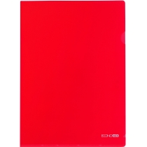 Папка-уголок A4 Economix, красная