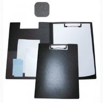 Папка-планшет А4 Economix с прижимом, пластик, черная