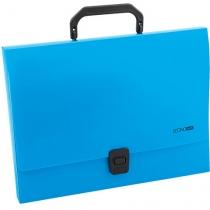 Портфель пластиковий A4 Economix на застібці, 1 відділення, синій