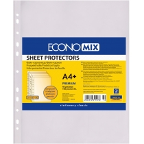 """Файл для документів А4+ Economix, 40 мкм, фактура """"помаранч"""" (100 шт/уп)"""