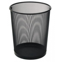 Корзина 10 л круглая металлическая черная