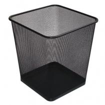 Корзина 10 л прямоугольная металлическая черная