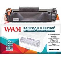 Картридж тонерный WWM для HP LJ P1102/Canon 725