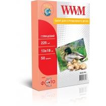 Фотобумага WWM 13х18см, глянцевая, 225г/м2, 50л.