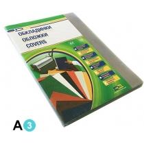 Обложка ПВХ А3 150мк 100шт прозрачная, без цвета