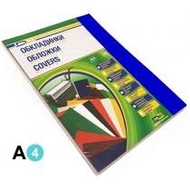 Обкладинка пластикова DA, А4, 100шт, 180мкм, прозора, синя