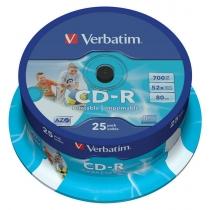 Диск CD-R Verbatim 700 Mb, 25шт, 52x