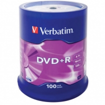 Диск DVD+R Cake, 4.7Gb, 100шт, 16х VERBATIM