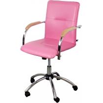 Крісло SAMBA GTP, EV-09, штучна шкіра, рожеве, Україна
