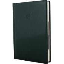 Ежедневник датированный 2020, GLOSS, зеленый, кремовый блок,А5