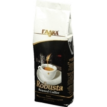 Кава в зернах Галка Робуста перший сорт, 1 кг пакет
