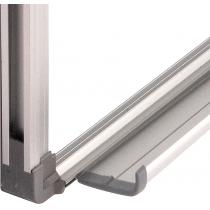 Дошка магнітно-маркерна, 90х120см, алюмінієва рамка