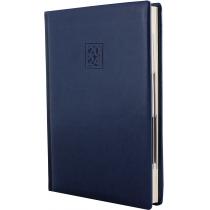 Ежедневник датированный 2020, GLOSS, синий, кремовый блок,А5