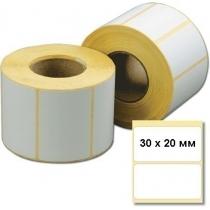 Этикетка самоклеющаяся в рулоне Termo ЭКО 30х20 мм, 2000 шт / рул.