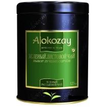 Чай Alokozay Tea 125 г зеленый листовой в жестяной банке