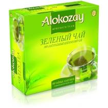 Чай зелений Alokozay Tea у пачках по 100 однораз. фільтр-пакетів, 200 г. (100х24)