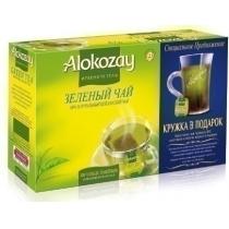 Чай Alokozay Tea 100 шт зеленый подарочный набор с прозрачной стеклянной чашкой