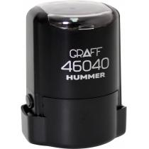 "Оснастка автомат., GRAFF 46040 HUMMER ""GLOSSY"" пласт., для печати d40мм, черная с футляром"