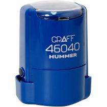 "Оснастка автомат., GRAFF 46040 HUMMER ""GLOSSY"" пласт., для печатки d40мм, синя з футляром"