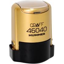 "Оснастка автомат., GRAFF 46040 HUMMER ""GLOSSY"" пласт., для печати d40мм, золотистая с футляром"