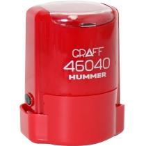 """Оснастка автомат., GRAFF 46040 HUMMER """"GLOSSY"""" пласт., для печатки d40мм, червона з футляром"""