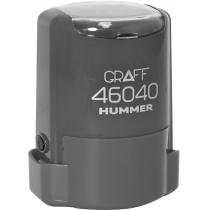 "Оснастка автомат., GRAFF 46040 HUMMER ""GLOSSY"" пласт., для печати d40мм, серая с футляром"