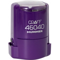 "Оснастка автомат., GRAFF 46040 HUMMER ""GLOSSY"" пласт., для печати d40мм, фиолетовая с футляром"