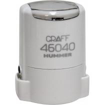 "Оснастка автомат., GRAFF 46040 HUMMER ""GLOSSY"" пласт., для печати d40мм, белая с футляром"