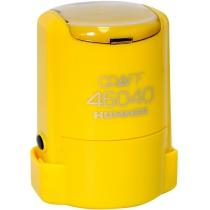 "Оснастка автомат., GRAFF 46040 HUMMER ""GLOSSY"" пласт., для печати d40мм, желтая с футляром"