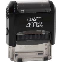 """Оснастка автомат., GRAFF 4911 P3 """"GLOSSY"""" пласт., для штампа 38х14мм, черная"""