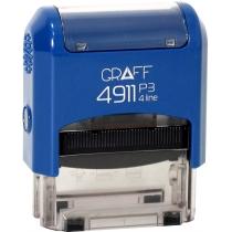 "Оснастка автомат., GRAFF 4911 P3 ""GLOSSY"" пласт., для штампа 38х14мм, синяя"