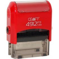 """Оснастка GRAFF 4912 P3 """"GLOSSY"""" 47х18 мм червона"""