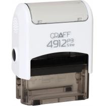 "Оснастка GRAFF 4912 P3 ""GLOSSY"" 47х18 мм біла"
