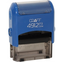 "Оснастка GRAFF 4912 P3 ""GLOSSY"" 47х18 мм синяя"