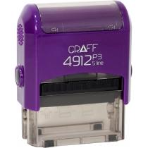 "Оснастка GRAFF 4912 P3 ""GLOSSY"" 47х18 мм фіолетова"