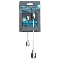 Набір ключів комбінованих з тріскачкою, 8 - 19 мм, 2 шт., Багаторозмірний, реверсивні, CrV GROSS