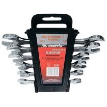 Набір ключів ріжкових, 6 х 22 мм, 8 шт., CrV, хромовані MATRIX