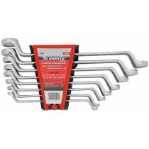 Набор ключей комбинированных 6шт. (6-17мм), CrV, Elliptical, мат. хромирование MATRIX Master