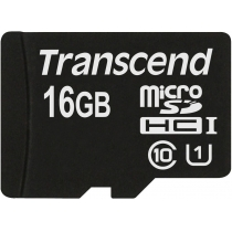 Карта памяти MicroSDHC 16GB  TRANSCEND Class 10 UHS-I Premium