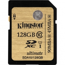 Карта памяти SDXC 128 GB KINGSTON (CLASS 10) UHS-I Ultimate