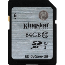 Карта памяти SDXC 64 GB KINGSTON G2 (CLASS 10) UHS-I