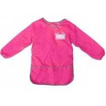 Фартух для дитячої творчості зі спинкою, рожевий