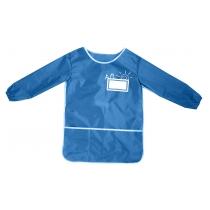 Фартух для дитячої творчості зі спинкою, блакитний