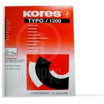 Папір копіювальний А4 TYPO/1200 Kores, 10 арк., чорний