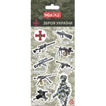 Наклейки полимерные плоские «Military», 10*18 см