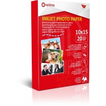 Фотопапір Optima 10х15см, матовий, 180 г/м2, 20 арк.