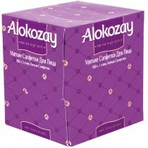 Серветки паперові 2 шари ALOKOZAY, 100 шт коробка куб, колір асорті