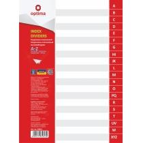 Разделитель листов А4 Optima, пластик, от А до Z, алфавитный