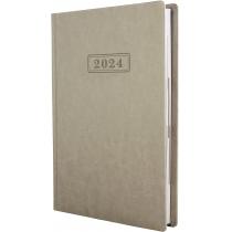 Ежедневник датированный 2019, NEBRASKA , белый металлик, А5