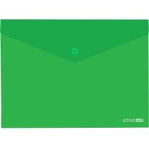 "Папка А5 прозрачная кнопку Economix, 180 мкм, фактура ""глянец"", зеленый"